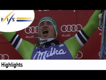 German Felix Neureuther comes from behind to grab his second straight victory in 2014