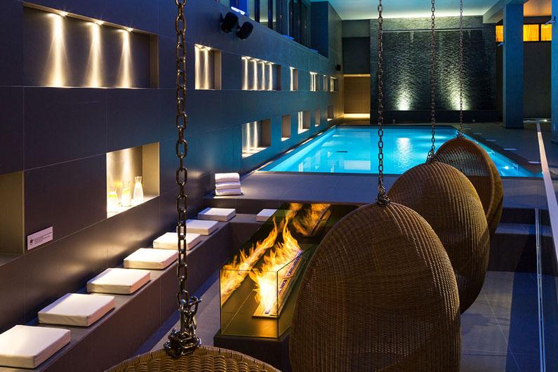 the spa at Chamonix's Hotel Heliopic