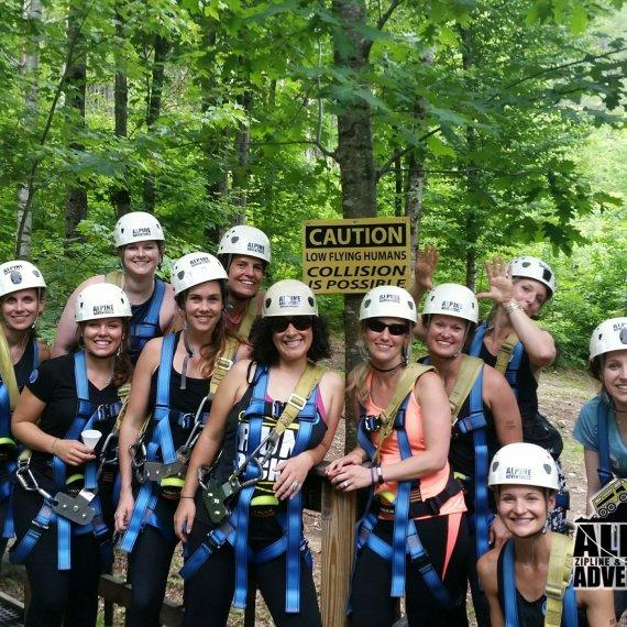 Ladies Group Ziplining Tour