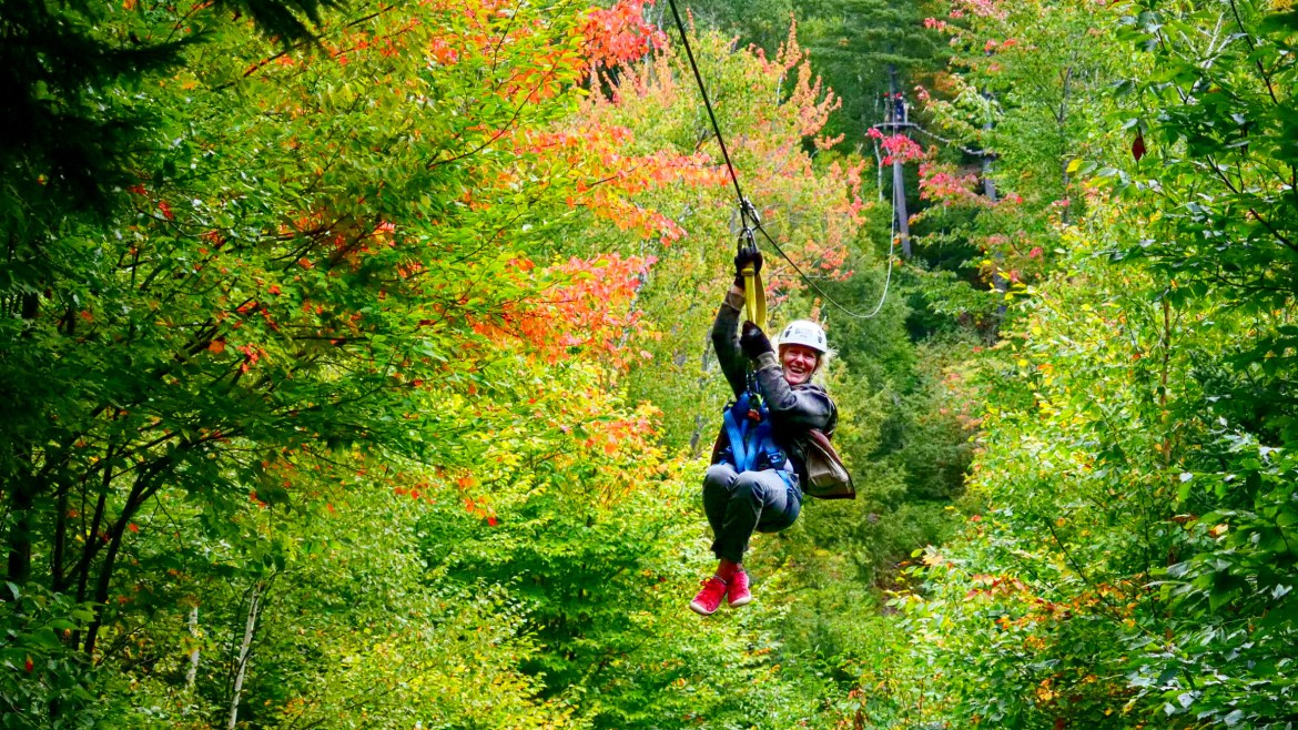 Ziplining Through the Fall Foliage