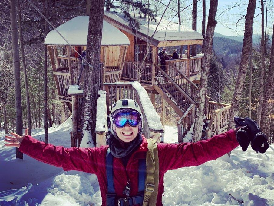 Winter Smiles Ziplining at Alpine Adventures