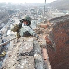 Демонтаж дымовой трубы Промышленные альпинисты Москва и Московская область (ООО Альпинисты-М)