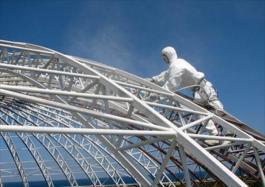 Огнезащита металлических конструкций альпинистами