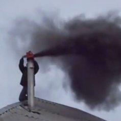 Чистка дымоходов и дымовых труб альпинистами