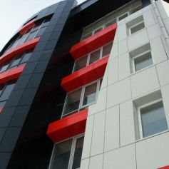 Монтаж вентилируемого фасада альпинистами
