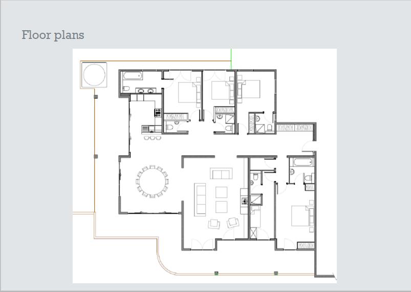 План этажа Les Fagots