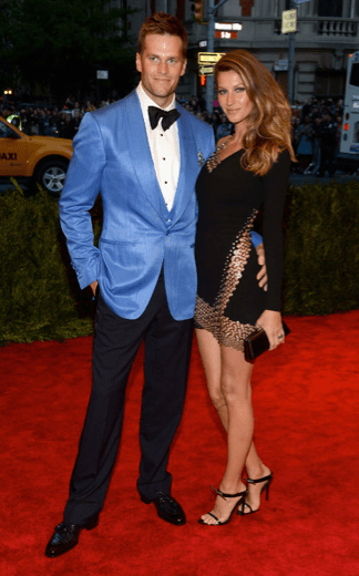 Gisele Bundchen in Anthony Vaccarello with hubby Tom Brady