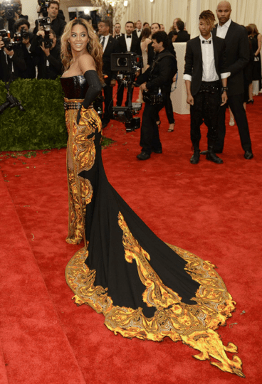 Love the train on Beyoncé's Givenchy gown