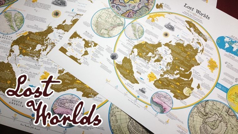 Lost Worlds poster map