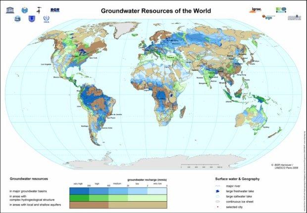 Mapa mundial de aguas subterráneas