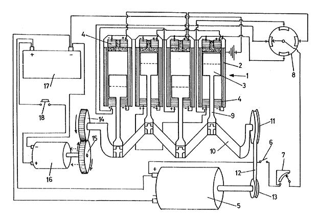 Motores de pistones con electroimanes