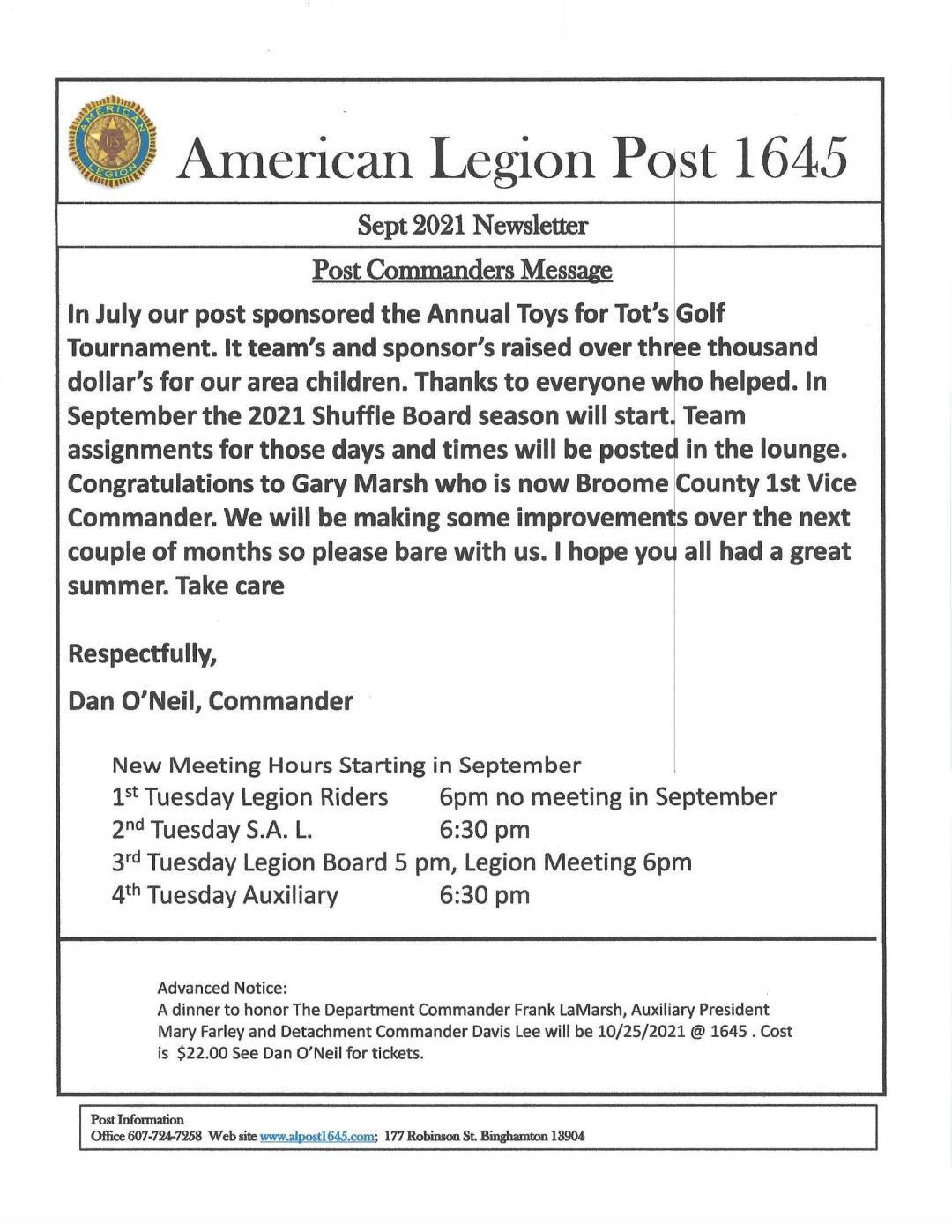 09 Sept Newsletter 0001 - Newsletter