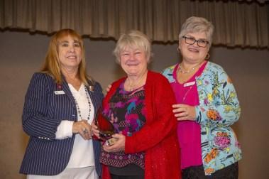 Stephanie Roberts Receiving the Anne Banning Leadership Award
