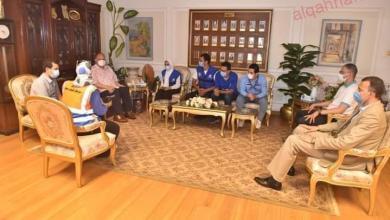 صورة سعد يستقبل شباب مبادرة YLY للتهنئة بعيد الاضحى