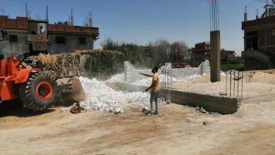 صورة إزالة تعديات في المهد على أراض أملاك الدولة بالسويس