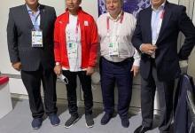 صورة وزير الرياضة يلتقي رئيس الدولى للرماية خلال زيارته لميدان الرماية المستضيف للمنافسات