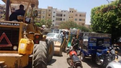 صورة جهاز مدينة العبور ينفذ حملة جديدة لإزالة الإشغالات