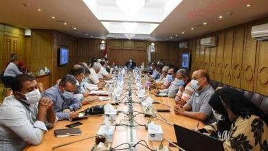 صورة الداودي  يعقد اجتماعا موسعا مع القيادات التنفيذية لمتابعة تنفيذ مشروع انشاء كوبري الرياح
