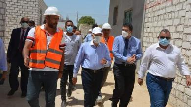 """صورة محافظ المنيا يتابع نسب تنفيذ اعمال المبادرة الرئاسية """"حياة كريمة"""""""