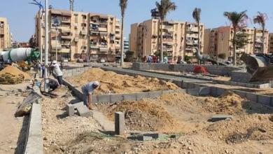 صورة محافظ بورسعيد : استمرار أعمال إنشاء ساحة شارع نهضة بورسعيد