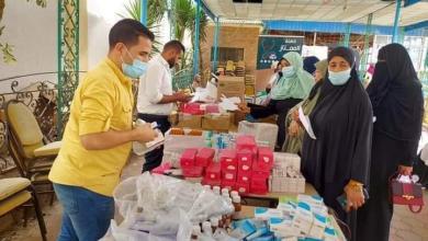 صورة إجراء الكشف الطبي على 779 مترددا في قافلة طبية بكفر الشيخ