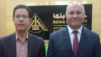 صورة جمال سوسة يشكر الجيزاوى على ما قدمه خلال فترة عمله قائما برئاسة الجامعة