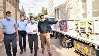 صورة محافظ الغربية يشهد انطلاق ١٤ شاحنة لتجهيزات مدارس حياة كريمة بزفتى.