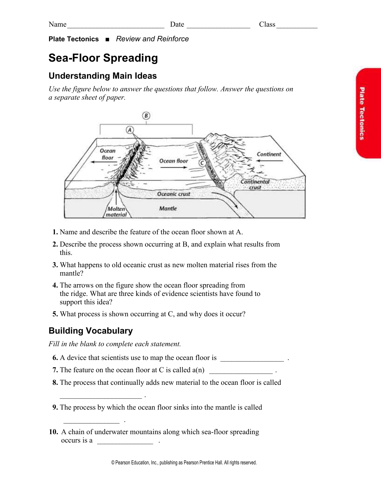 8 Pics Sea Floor Spreading Worksheet Answer And View
