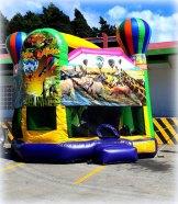 Alquiler de Inflable Safari con Tobogan, Pared para Escalar, Brincar. Medidas 5.30 de Alto, Ancho y Largo