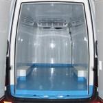 Interior de una furgoneta isotermo