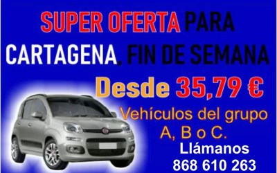 SUPER OFERTA PARA CARTAGENA FIN DE SEMANA DESDE 35,79 €