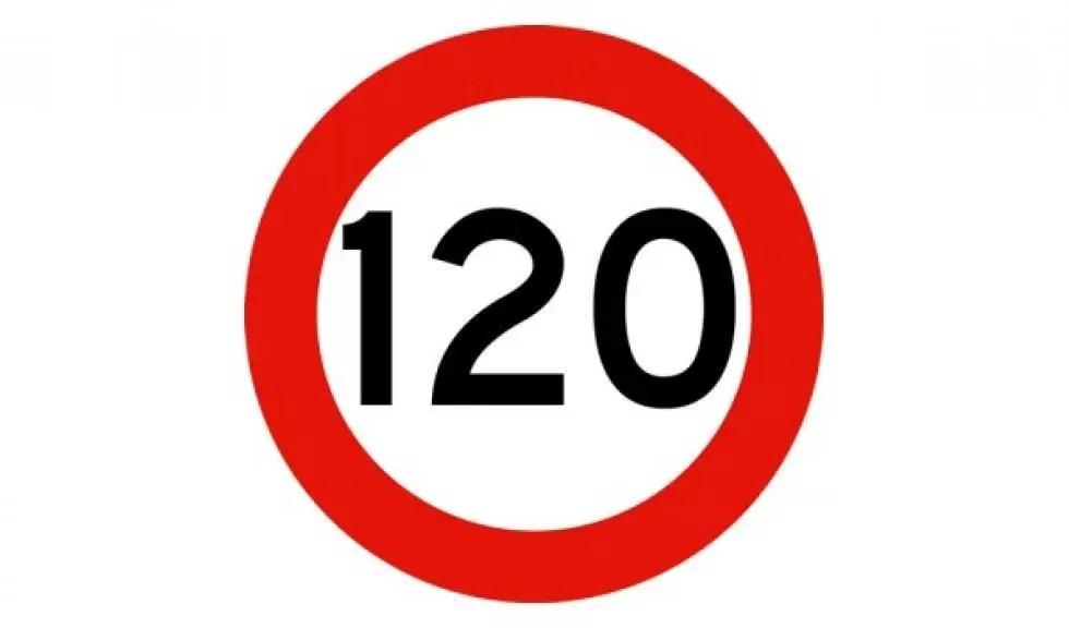 limite 120 km/h