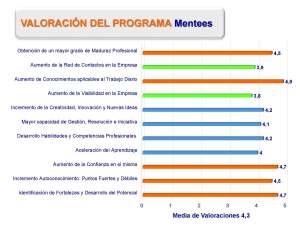 Valoraciones del programa de mentoring por las mentees