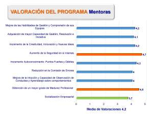 Resultados del programa segun las Mentoras