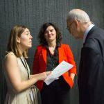 Nora Sarasola, David Clutterbuck y Maria Luisa de Miguel