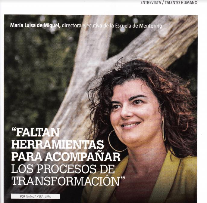 Entrevista sobre mentoring y talento en la Revista America Economía