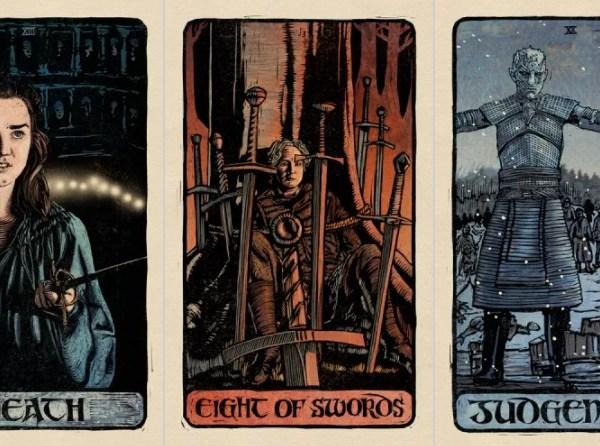 tarot de juego de tronos, cartas