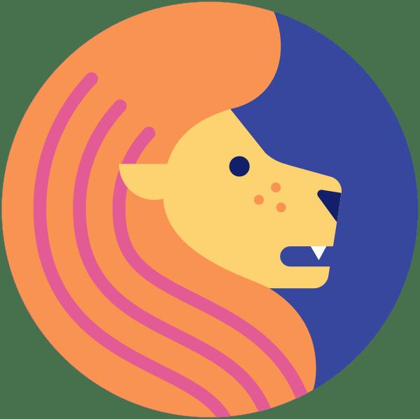 dibujo del símbolo del zodíaco leo