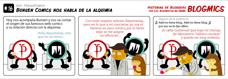Blogmic 16: Bunsen Comics nos habla de la alquimia