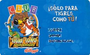 Credencial de miembro del club del tigre toño