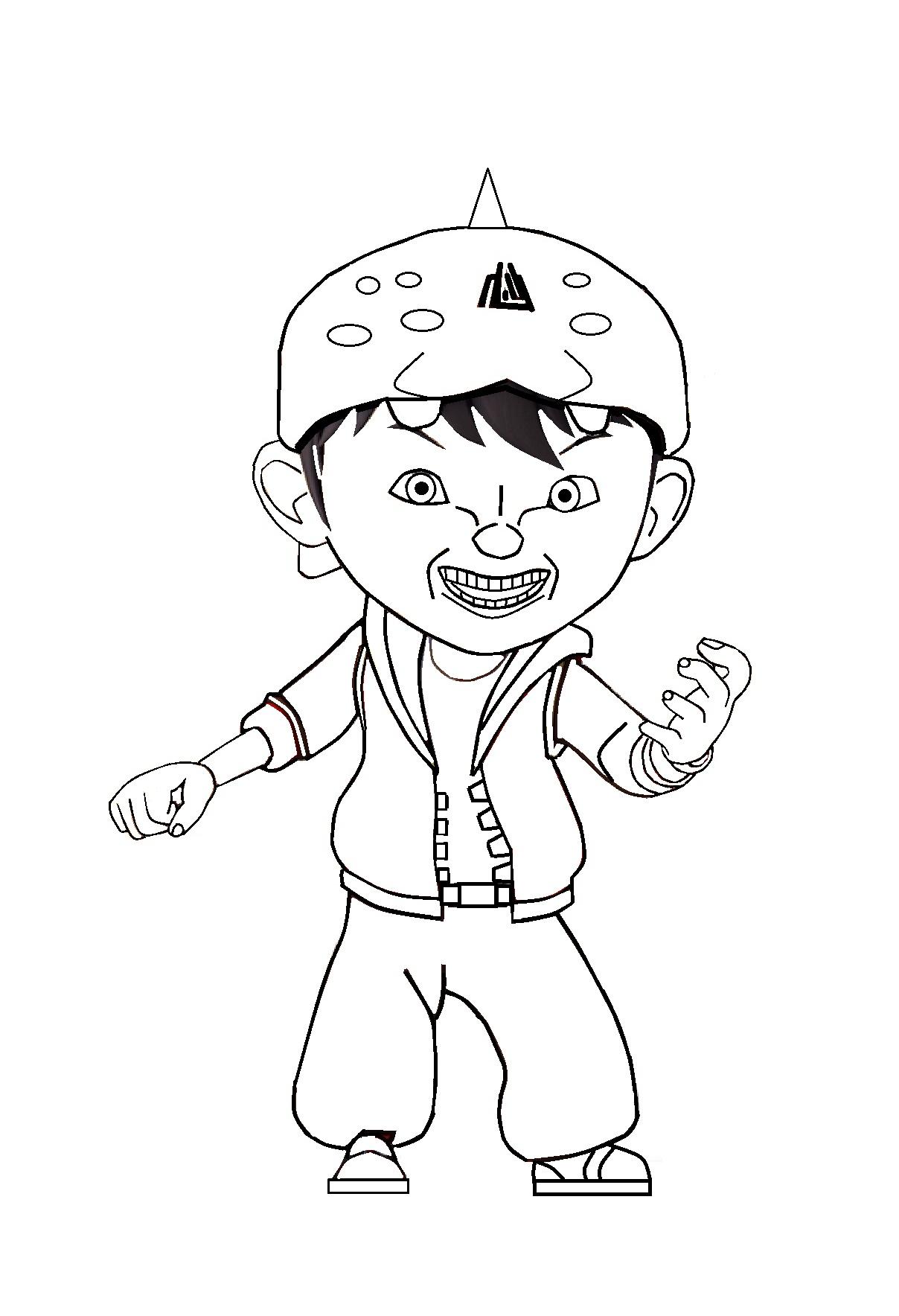 560 Koleksi Gambar Kartun Boboiboy Hitam Putih Terbaik