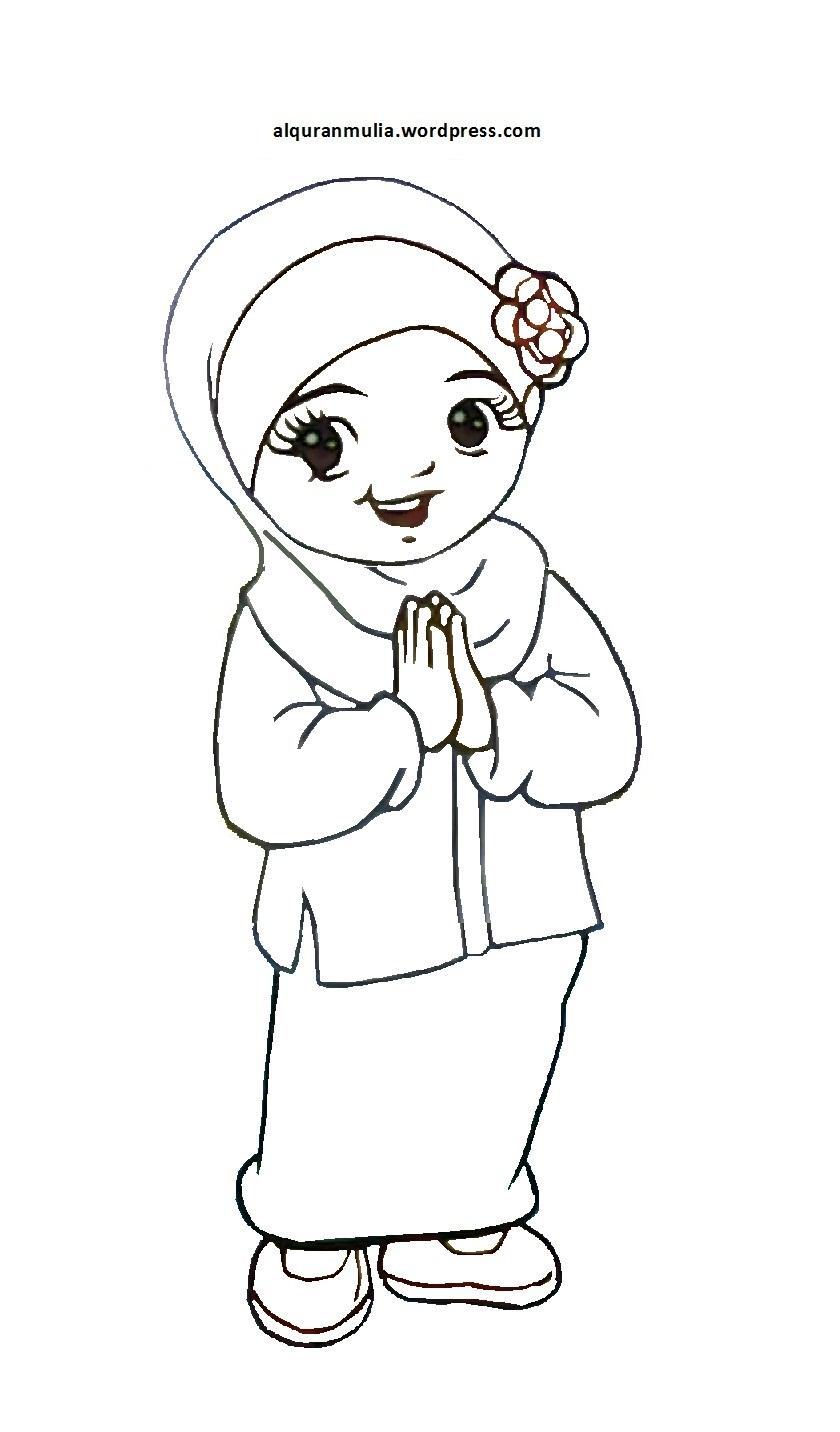 Mewarnai Gambar Islami Untuk Anak : mewarnai, gambar, islami, untuk, Contoh, Gambar, Kartun, Islami, Untuk, Mewarnai, KataUcap