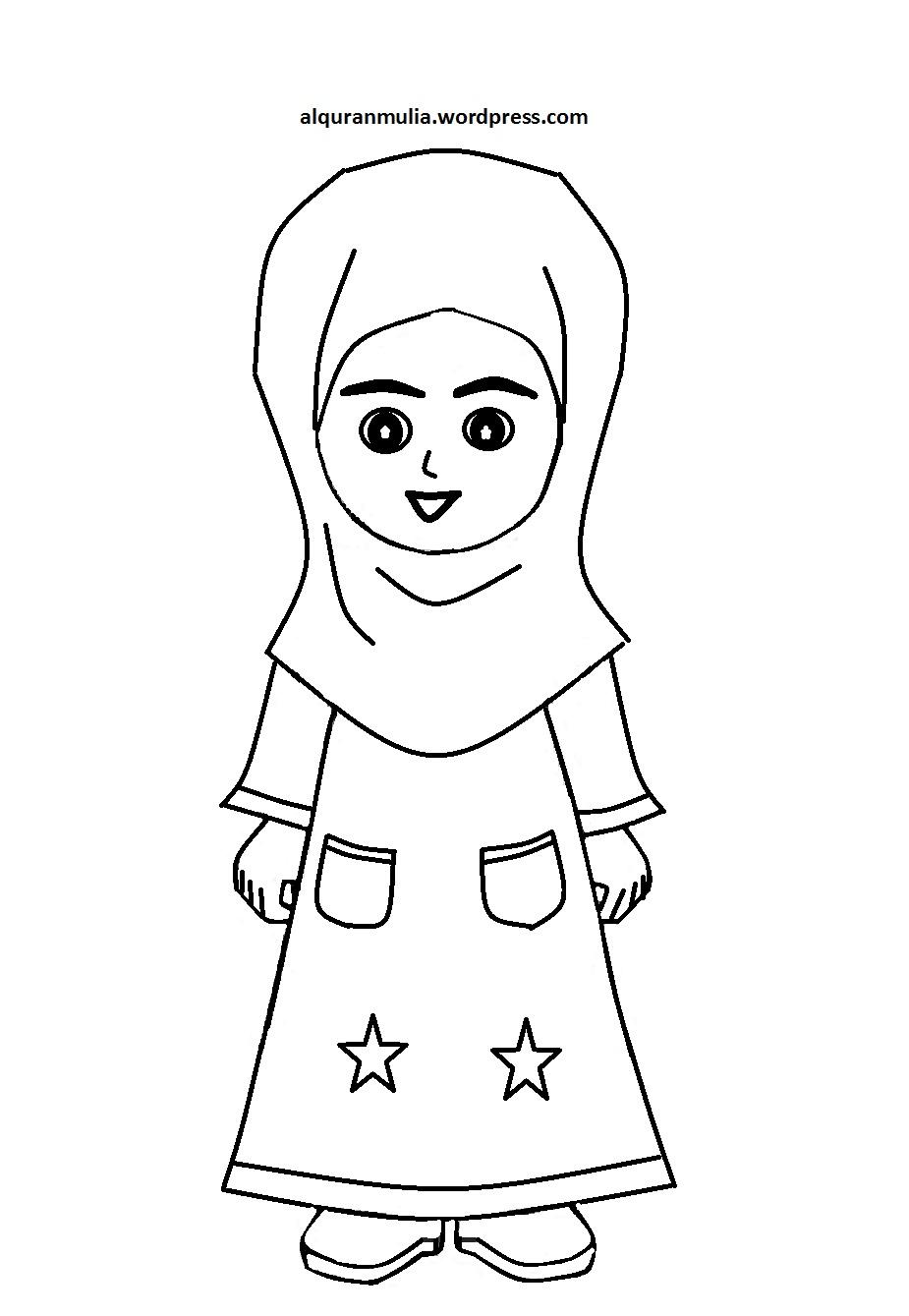 Mewarnai Sketsa Gambar Mewarnai Islami Terbaru KataUcap