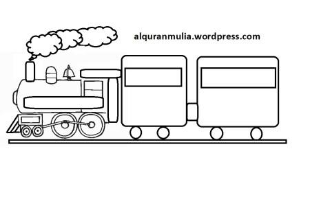 [Bisa diprint] Mewarnai Kereta Api Thomas