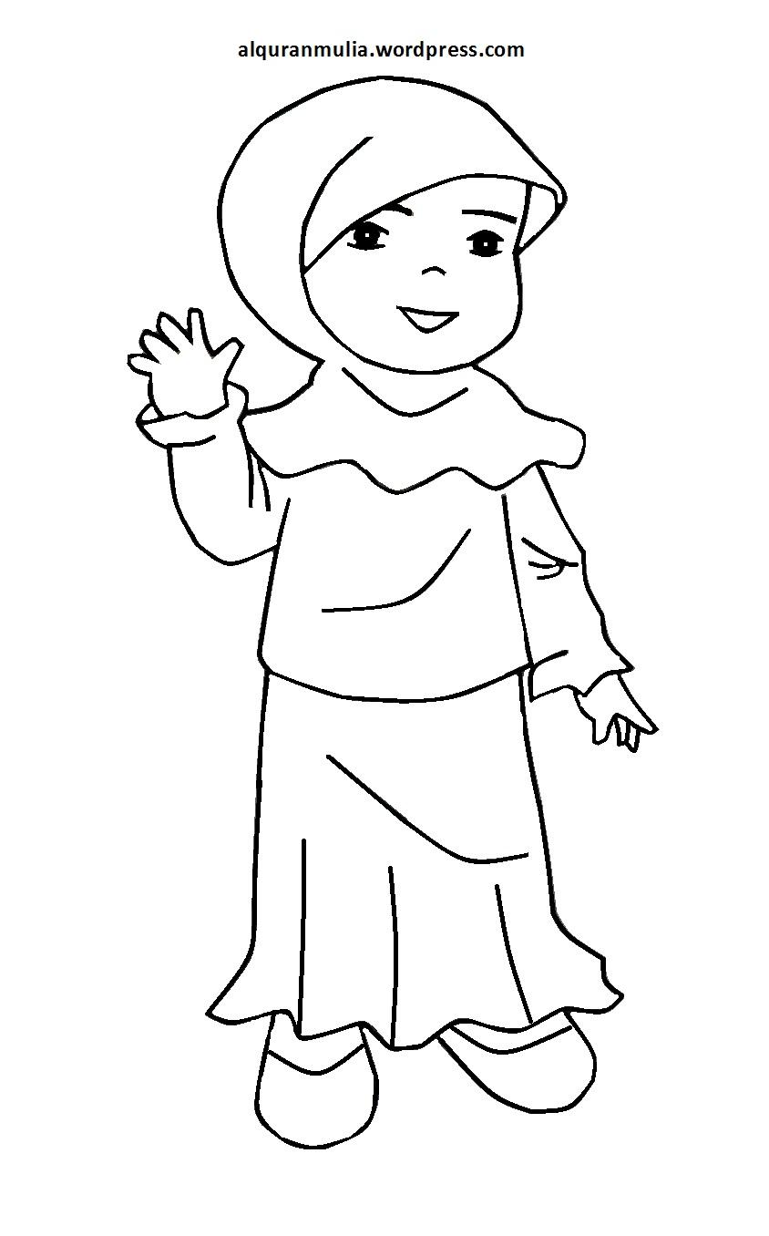 750 Gambar Kartun Anak Muslim Mengaji HD Terbaik