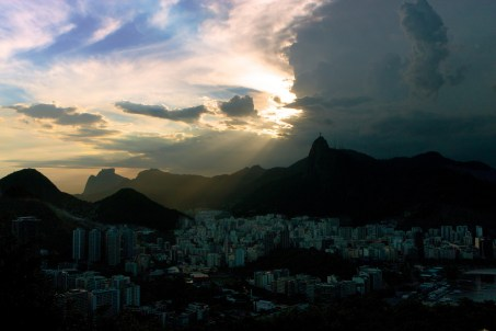 Moody skies seen from Sugarloaf Mountain, Rio.
