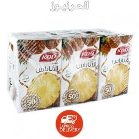 عصير اناناس كي دي دي كم سعره حراريه ؟