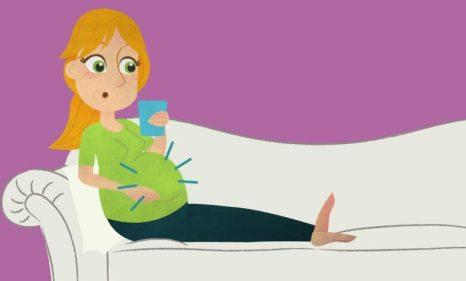 مغص يروح ويجي من علامات الحمل