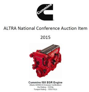 Cummins engine for Auction