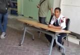 ambil nomor antrian di Kantor Imigrasi Jakarta Barat